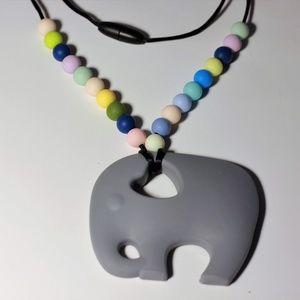 Other - Elephant teething necklace
